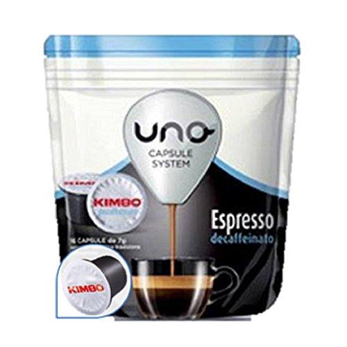 64 CAPSULE CAFFE KIMBO MISCELA ESPRESSO CEFAFFEINATO DEK UNO SYSTEM ILLY 46