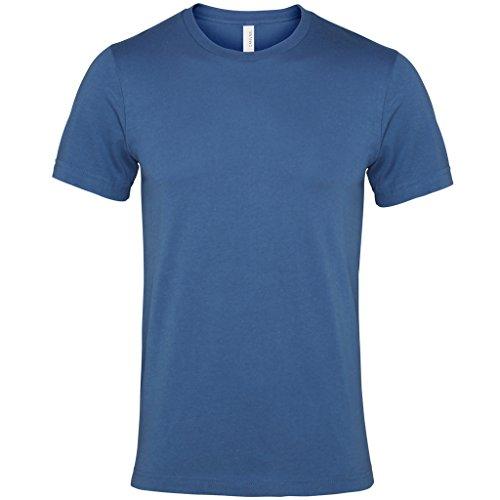 Jersey crew neck t-shirt Olive Bella Canvas Streetwear Shirts Manner Blau - Stahlblau