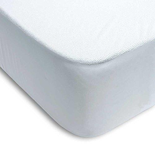 PROTECTOR DE COLCHÓN RIZO ALGODÓN 100% PVC AJUSTABLE (135_x_200_cm ( CAMA DOBLE))