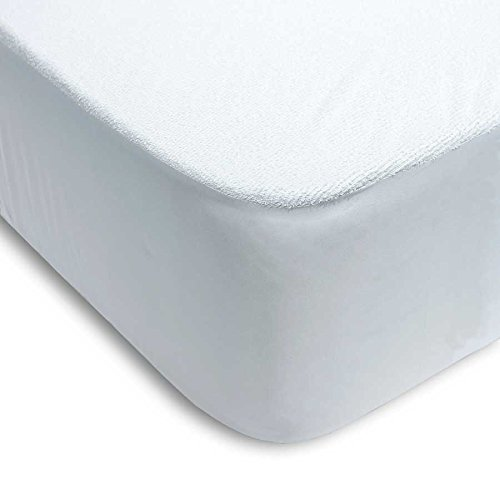 ENERGY COLORS textil-hogar Protector COLCHÓN Impermeable Rizo ALGODÓN 100% PVC 150_x_200_cm
