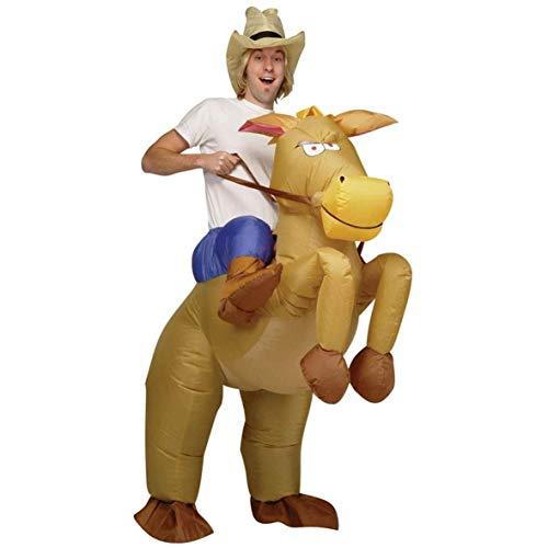 Billig Erwachsene Für Kostüm Easy - AirSuits Aufblasbares Kostüm Pferd und Cowboy Fasching Karneval