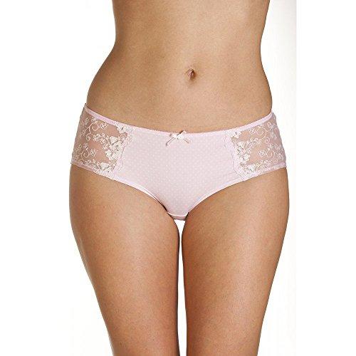 Camille Womens Ladies Pin Dot Print Pink Shorts