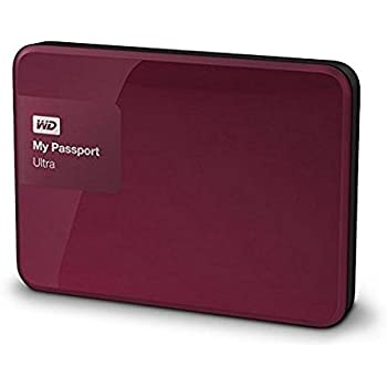 WD 1TB Berry My Passport Ultra Portable External Hard Drive - USB 3.0 - WDBGPU0010BBY-EESN