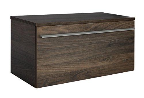 FACKELMANN Klappenschrank YEGA/Badschrank mit Soft-Close-System/Maße (B x H x T): ca. 59,5 x 32 x 32 cm/Schrank fürs Badezimmer mit 1 Klapptür/Korpus: Braun dunkel/Front: Braun dunkel