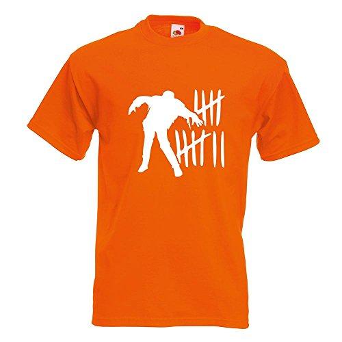 Kiwistar Zombie Killer - Hunter - respond Team T-Shirt in 15 Verschiedenen Farben - Herren Funshirt Bedruckt Design Sprüche Spruch Motive Oberteil Baumwolle Print Größe S M L XL XXL Orange