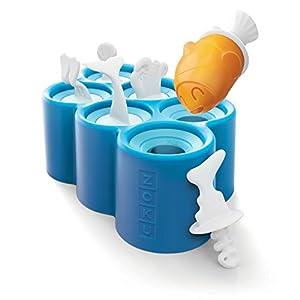 ZOKU Eiszubereiter Fish Pops für 6 EIS am Stiel, Kunststoff, Blue, 45x35x25 cm