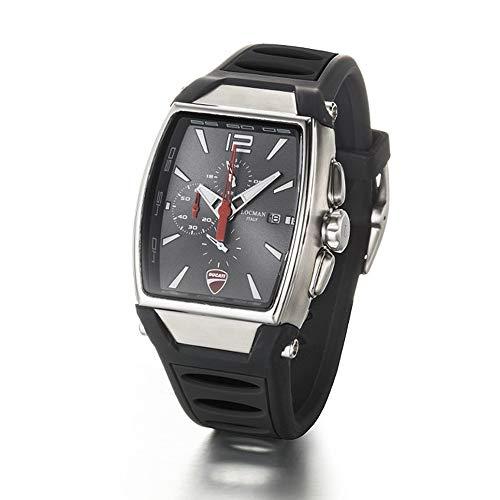 Orologio Locman DUCATI d550a07s-00gywhsk Al quarzo (batteria) Acciaio Quandrante Antracite Cinturino Silicone