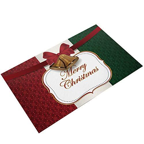 Navidad Imprimir Felpudo Franela Entrada Rug Tapetes