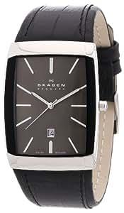 Skagen Herren-Armbanduhr Analog Quarz Leder 984LSLB