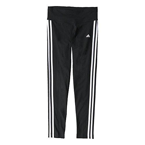 Adidas, Pantaloni sportivi aderenti Donna Sport Essentials 3-Stripes, Nero (Black/White), XL