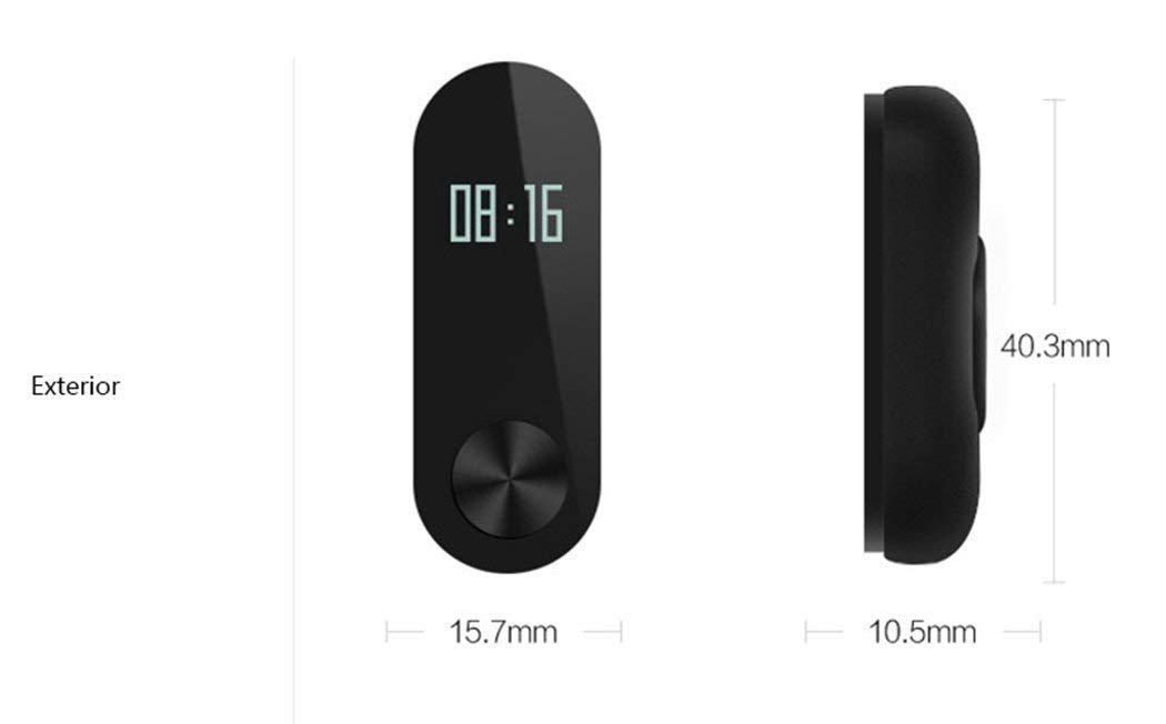 Xiaomi Mi Band 2 Fitness Smartband, Pulsera de actividad, con monitor de ritmo cardíaco, color Negro 9