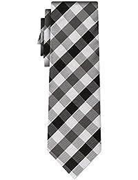 cravate soie tartan pattern char silver