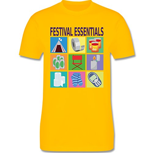 Statement Shirts - Festival essentials basics - Herren Premium T-Shirt Gelb