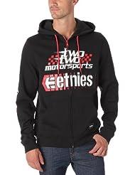 Etnies Throttle-Sweatshirt Hood Zip Hose-Baumwolle, mit Logo, Herren