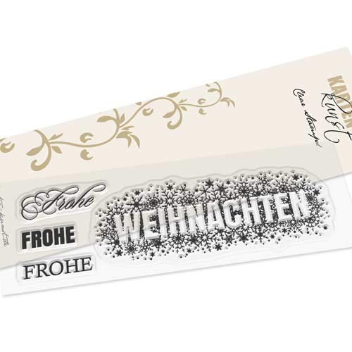 Clear Stamp-Set Stempel-Gummi Karten-Kunst - Weihnachten zerstreut -