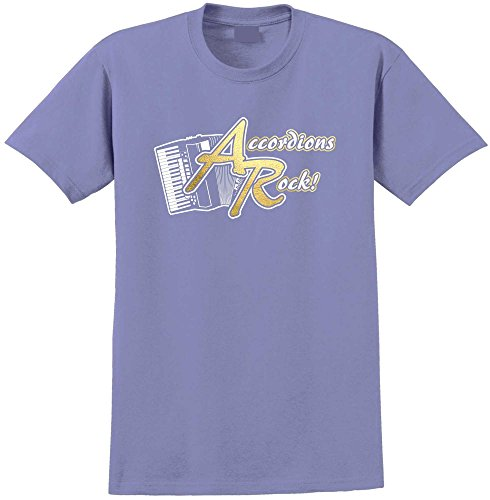 Accordion Rock - Violett T Shirt Größe 81cm 32in Med 9-11 Jahr MusicaliTee