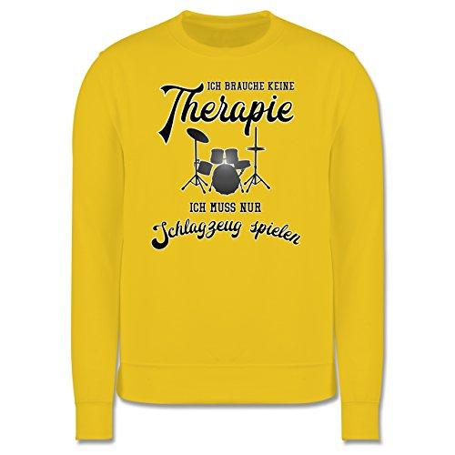 Instrumente - Ich brauche keine Therapie ich muss nur Schlagzeug spielen - Herren Premium Pullover Gelb
