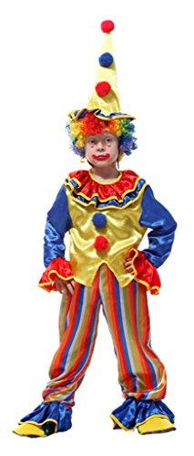 Kostüm Der In Gelb König (EOZY 3 Teilig Kinder Clown Kostüm Lustig M 4-6 Jahre)