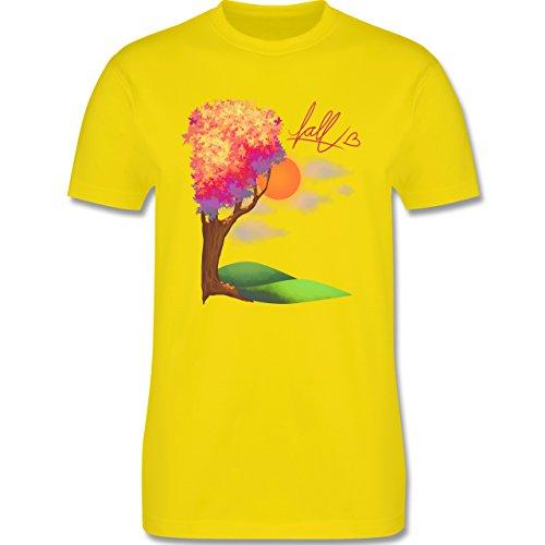 Statement Shirts - Herbst - Fall love - Herren Premium T-Shirt Lemon Gelb