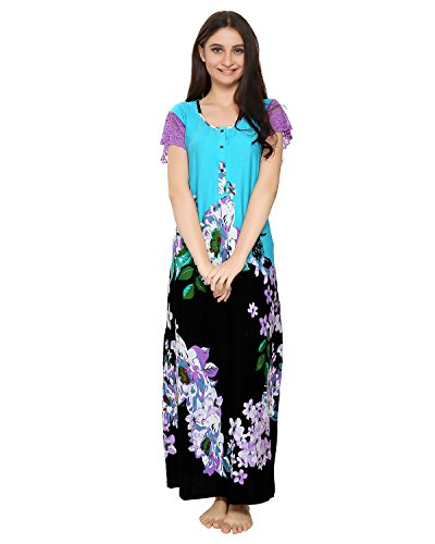 AV2 Women Cotton Floral Print Nighty Available Sizes  Large Available  Colors  Blue 84406b090