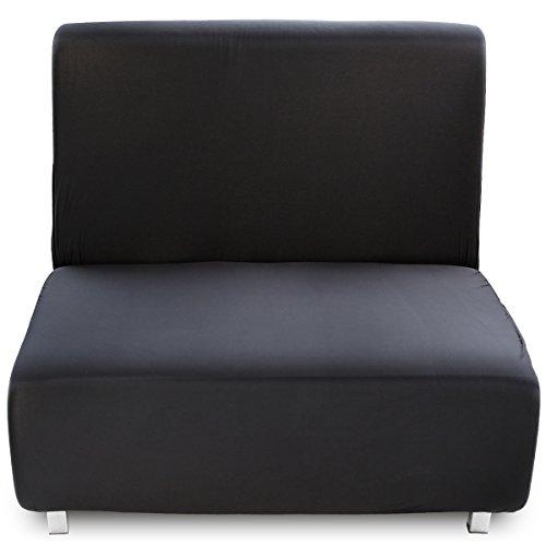 1 Sitzer schwarz Sofa überwurf Sofahusse Sofabezüge Sofabezug elastisch Sesselbezug Sesselhusse Sesselüberwurf Sofa Husse Möbelschutz Sofaschoner Stretchhusse Universal