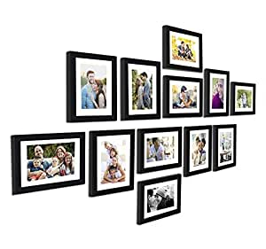 Art Street Set of 12 Wall Photo Frame, Picture Frame for Home Decor with Free Hanging Accessories for Family Decoration. (Black)