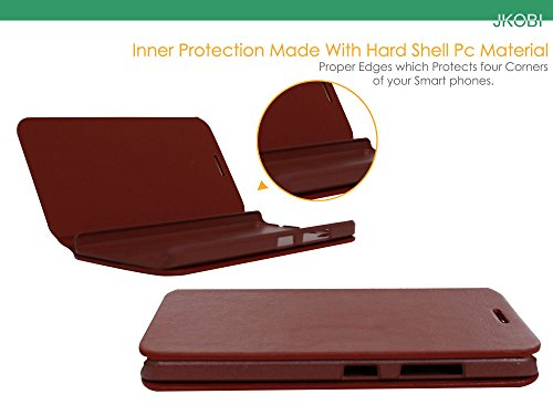 Jkobi PU Leather Magnetic Closure Wallet Flap Flip Case Cover For HTC Desire 825 -Leather Brown