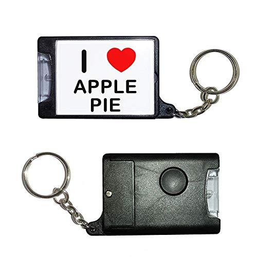 BadgeBeast.co.uk I Love Apple Pie - Schwarze Taschenlampe -