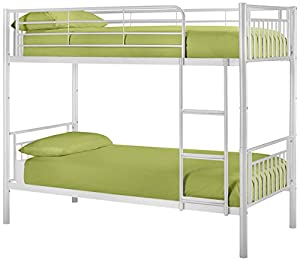 Julian Bowen Atlas Single Metal Bunk Bed Gloss White