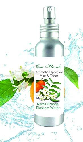 Hydrolat Eau Florale de Fleurs d'Oranger 100ml - Eau de Néroli Brumisateur Tonique Calmant et Anti Taches Anti Age