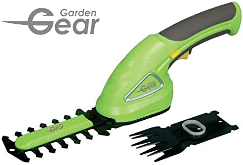 Garden Gear 3.6V Cordless Hedge Trimming Shears with Lithium-Ion Battery 80mm Cutting Blade. Small handheld and light weight (Trimming Shears)