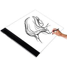 Lzy A4 Led Mesas de luz Tableros de dibujo, Tablero de trazado digital para artes gráficas luz con Enchufe EU
