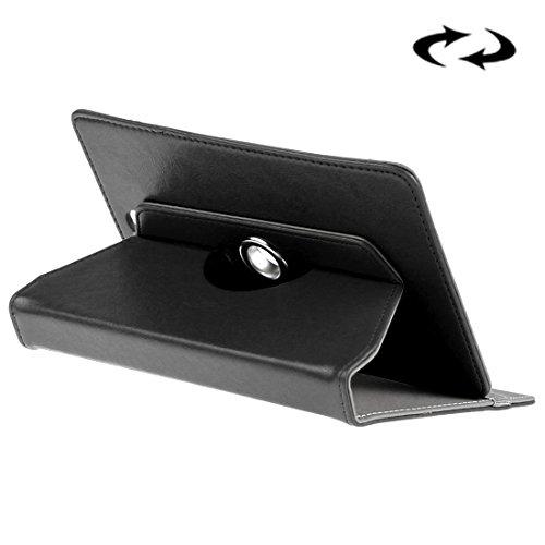 Copertine Tablet, Enkay Custodia in Pelle compresse da 8 pollici Crazy Horse Texture 360   gradi di rotazione custodia protettiva Shell con supporto per Samsung Galaxy Tab 8.0 S2 T715 / T710, cubo U16GT, ONDA Vi30W, P86 Teclast ( Colore : Nero )