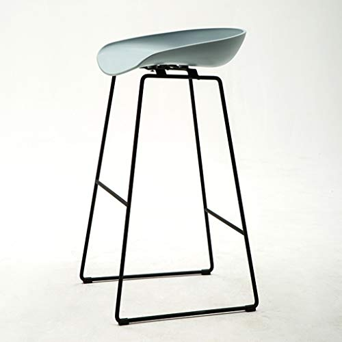 Tragbar Coffee Shop Bar Stuhl, Metall Tragende rutschfeste Barhocker Wasser Bar Grill Stuhl Rezeption Zähler Hocker Höhe 75 cm Hochstuhl (Color : Blue) - Zähler Höhe Stühle Hocker