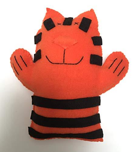 TIGER softie - soft fleece - hand sewn & unique - BABY SAFE -