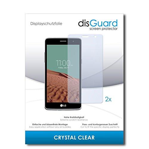 disGuard® Bildschirmschutzfolie [Crystal Clear] kompatibel mit LG Bello II [2 Stück] Kristallklar, Transparent, Unsichtbar, Extrem Kratzfest, Anti-Fingerabdruck - Panzerglas Folie, Schutzfolie