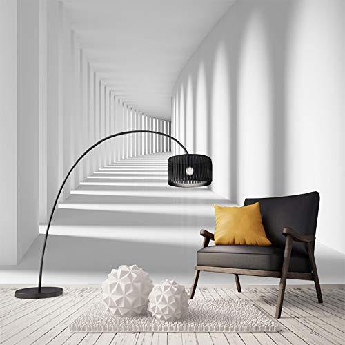 Mddjj The Long Corridor Extension Space Benutzerdefinierte Moderne Tapete Die Neue Abstrakte Geometrische Figur Wandgemälde Tapete Für Wohnzimmer-450X300Cm