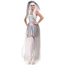Halloween/traje/para las mujeres/falda sexy/fiesta/novia fantasma/disfraz de bruja-B M