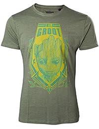 Guardians Of The Galaxy Herren T-Shirt Groot Shield grün
