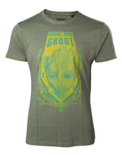 Guardians Of The Galaxy Herren T-Shirt Groot Shield grün Grün