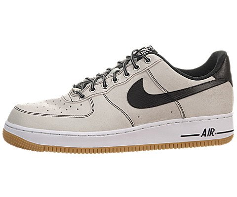Nike Air Force 1 - Pure Platinum / Bianco-gum marrone chiaro-nero, 7.5 D Us
