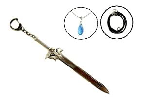 Heart (tears) Yui tears one-handed sword Eryu system data Yui Sword Art Online Kirito black (heart) tung months valley Kazuto SAO Sword Art Online cosplay prop sword weapon key chain necklace rope chain with (japan import)