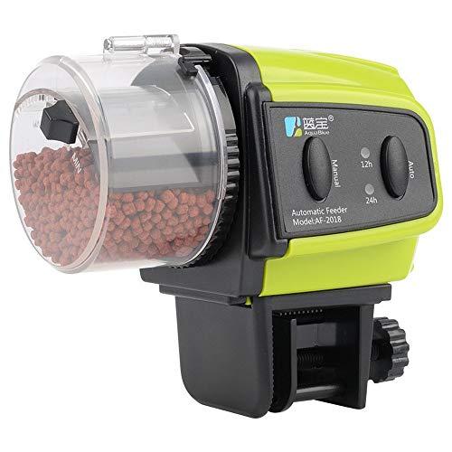 yuoi Automatische Futterautomat für Fische Aquarium, Automatisierte Futterspender Fischfütterung Fütterung Zeit Einstellung,geeignet für Fisch Tank und Schildkröten Tank( Batterien Nicht enthalten)