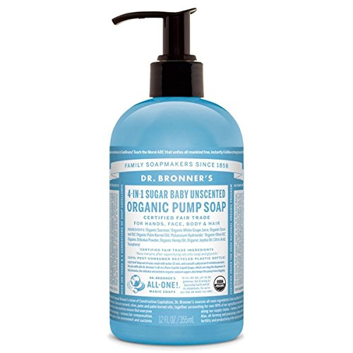 Dr Bronner'S | Pump Soap - Unscented | 1 x 355ml