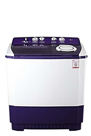 LG 9.5 kg Semi-Automatic Top Loading Washing Machine (P1565R3SA, Purple)