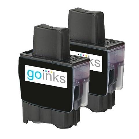 2 Noir Compatible Brother LC900BK Cartouche d'encre d'imprimante pour Brother