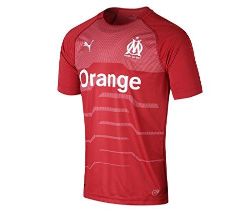 Puma Olympique de Marseille GK Shirt Original SS Maillot Homme, Chili Pepper White, FR : L (Taille Fabricant : L)