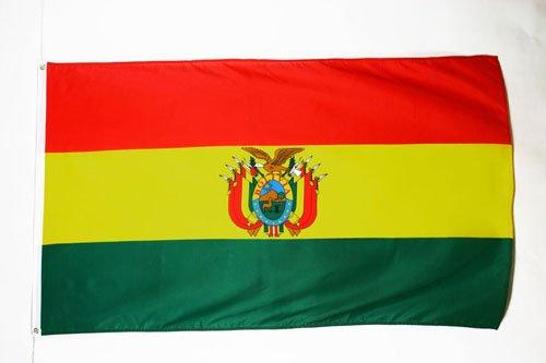 FLAGGE BOLIVIEN 150x90cm - BOLIVIANISCHE FAHNE 90 x 150 cm - flaggen AZ FLAG Top Qualität