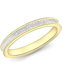 Carissima Gold Damen-Ring 9ct Yellow 2.5mm Stardust
