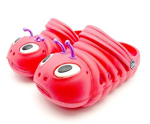 """Kinder Clogs/Sandalen """"Glühwürmchen"""" - Unisex - in verschiedenen Farben Rot"""